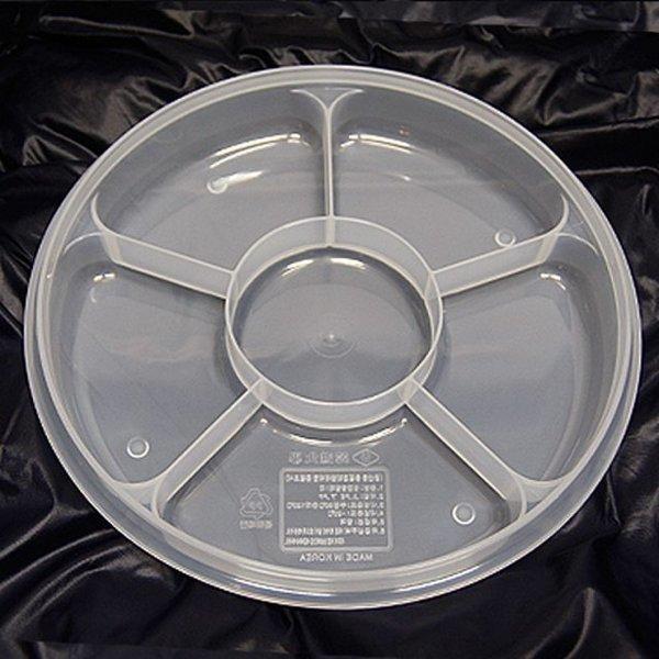 한진밀페찬합-PP원형6칸형(대) 반찬통 조리용품 주방 상품이미지