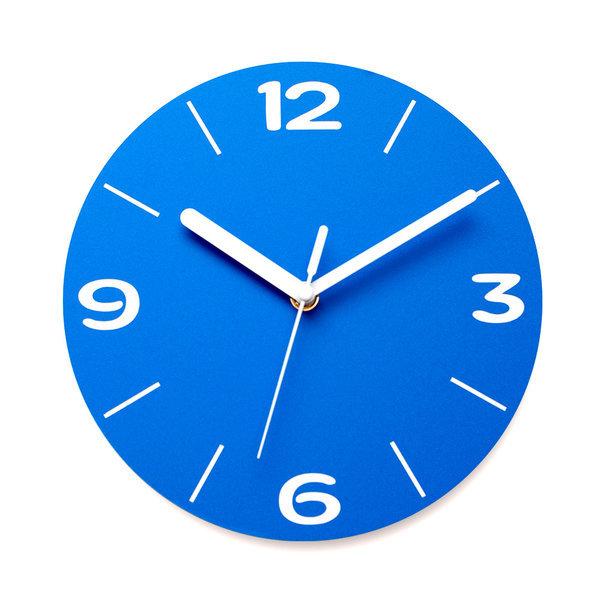 붙이는벽시계 인테리어시계 아미공 무음 엣지라인 블루 상품이미지