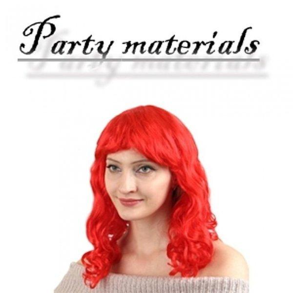 코스프레 파마 긴 머리 가발-레드  패션잡화 패션가 상품이미지