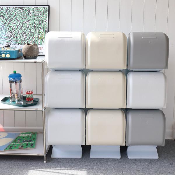 원터치분리수거함 3단 /가정용/재활용/휴지통 상품이미지