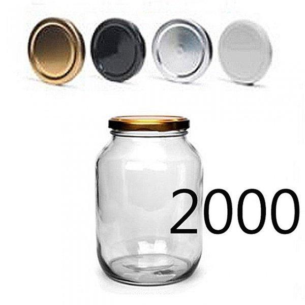 밀폐용기1000(850ml) (70mm블랙뚜껑) 빈병 높은병 상품이미지