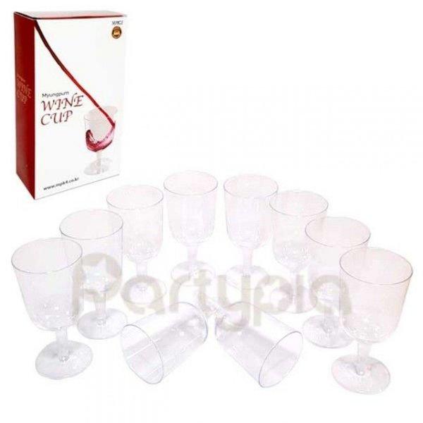 MPK4 플라스틱와인컵(10잔) 행사용 파티장 와인컵 상품이미지