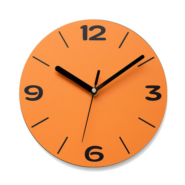무음벽시계 디자인시계 아미공 엣지라인 오렌지 상품이미지