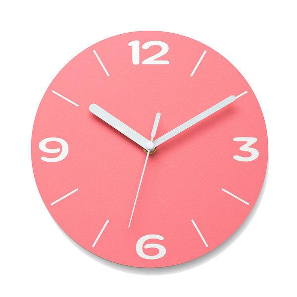 벽시계인테리어 무소음시계 아미공 엣지라인 핑크 상품이미지