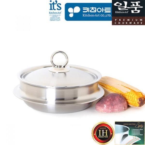 일품 5ply 통오중 인덕션 스텐 가마솥냄비 18cm(L) 상품이미지