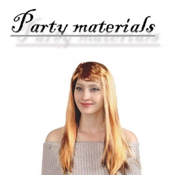 코스프레 긴생머리 가발- 브라운  패션잡화 패션가발 상품이미지