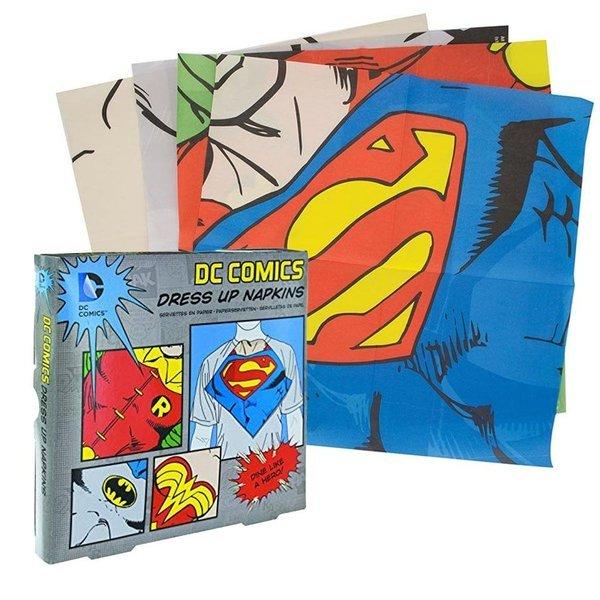 베트맨 슈퍼맨 테이블 냅킨 4종 24매세트 상품이미지