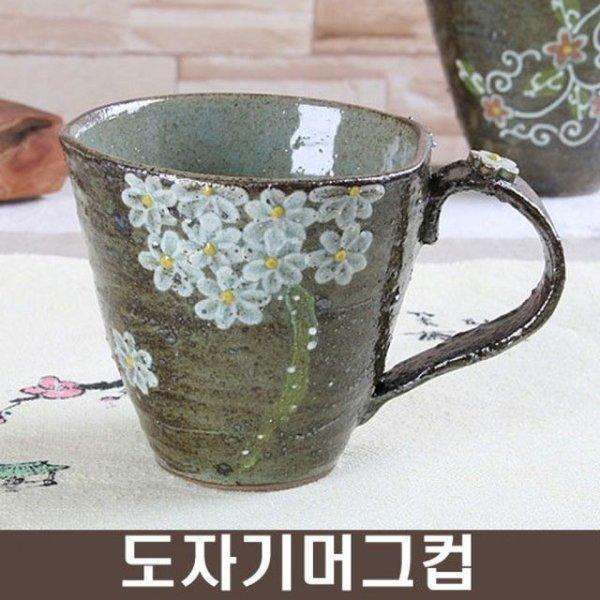 거친 흰꽃부케 머그컵 상품이미지