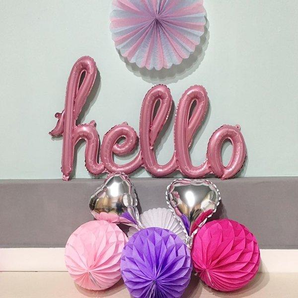 hello 핑크은박풍선 상품이미지
