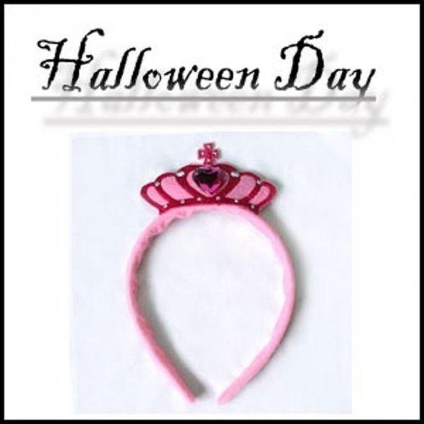 할로윈파티 소품 핑크 큐빅 왕관 머리띠  할로윈데코 상품이미지