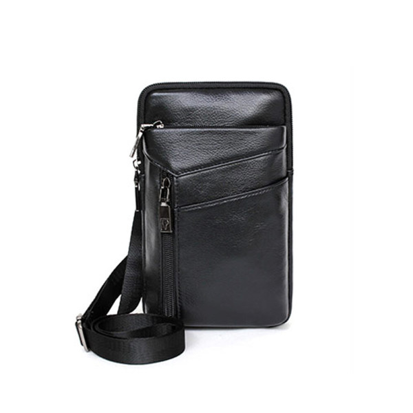 소 가죽 휴대폰 여권 크로스 여행 벨트 미니 백 가방 상품이미지