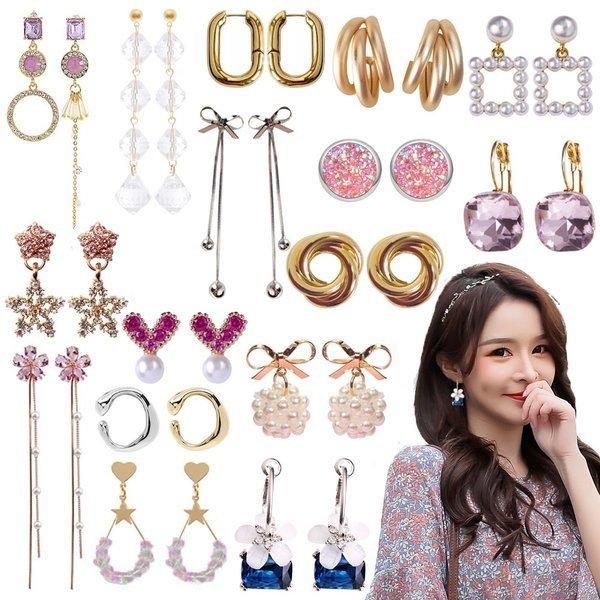무배+옵션가NO Fashion Earrings 귀걸이 진주/링/드롭 상품이미지