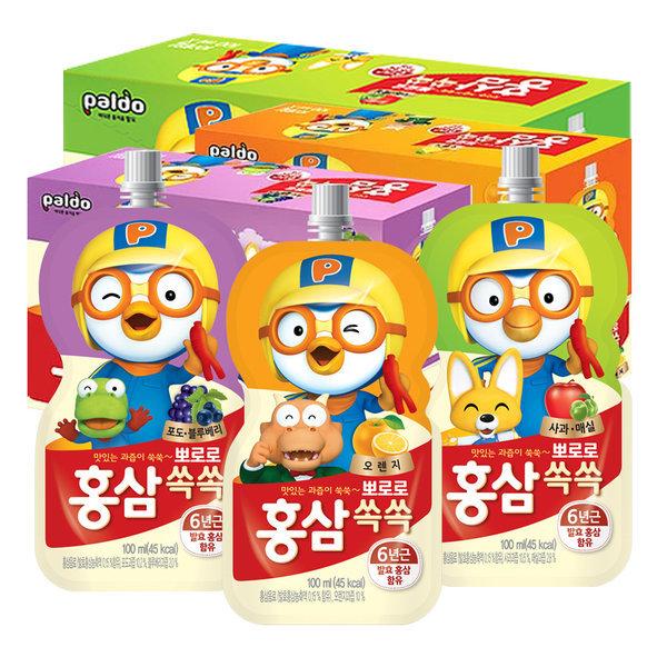 뽀로로음료수 10팩x4세트(총40개)아기주스 홍삼쏙쏙 상품이미지