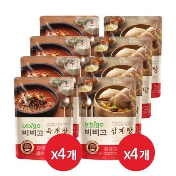 오플  CJ단독  비비고 육개장500g 4봉 + 삼계탕800g 4봉 상품이미지