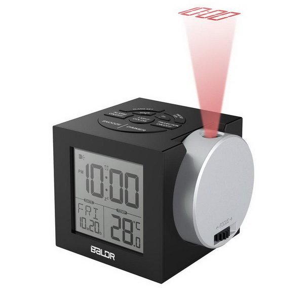 Baldr 디스플레이 전자 바탕 화면 알람 시계 블랙 상품이미지