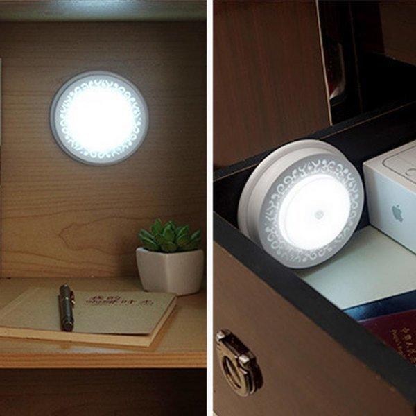 홀로 패턴 움직임감지 LED 라이트 화이트 화이트 상품이미지
