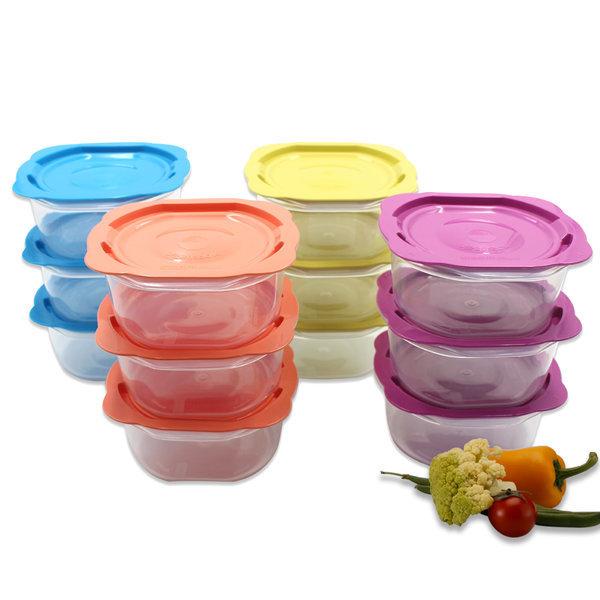맛쿡 전자렌지용기 400mlx12세트 냉동밥보관 밀폐용기 상품이미지