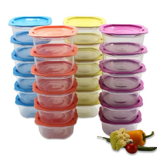 맛쿡 전자렌지용기 400mlx24세트 냉동밥보관 밀폐용기 상품이미지