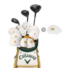 골프채 아이언커버세트 자수 숫자 클럽헤드보호 화이트