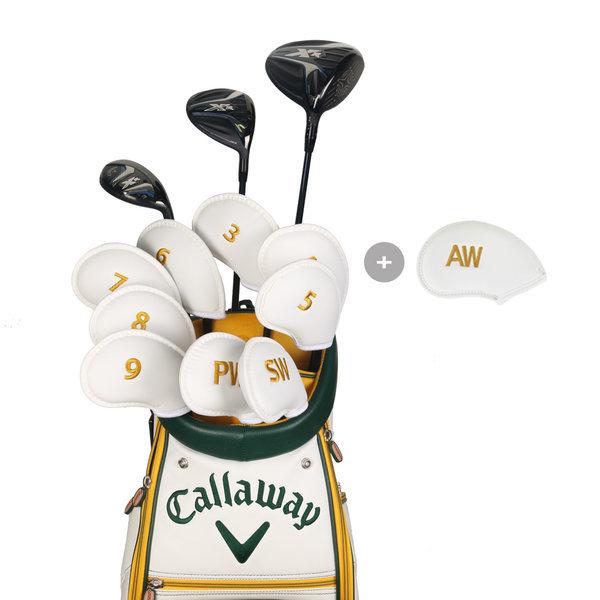 골프채 아이언커버세트 자수 숫자 클럽헤드보호 화이트 상품이미지