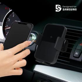 차량용 무선충전기 휴대폰거치대 블랙/갤럭시 노트8