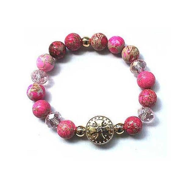 핑크 임페리얼 여성 향기 원석 팔찌 2ml천연 에션셜 상품이미지