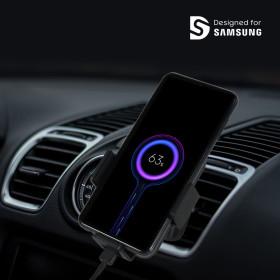 차량용 무선충전기 휴대폰거치대 블랙/아이폰 X