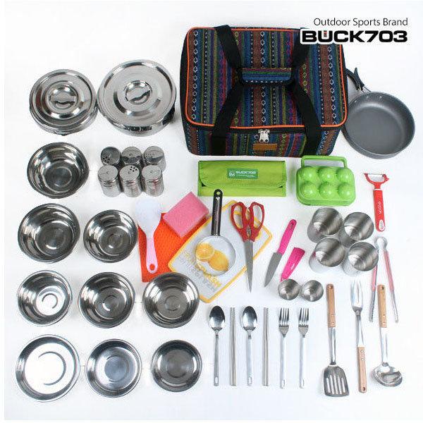 (BUCK703)코펠세트49종(가방+조리도구49종)/식기용품 상품이미지