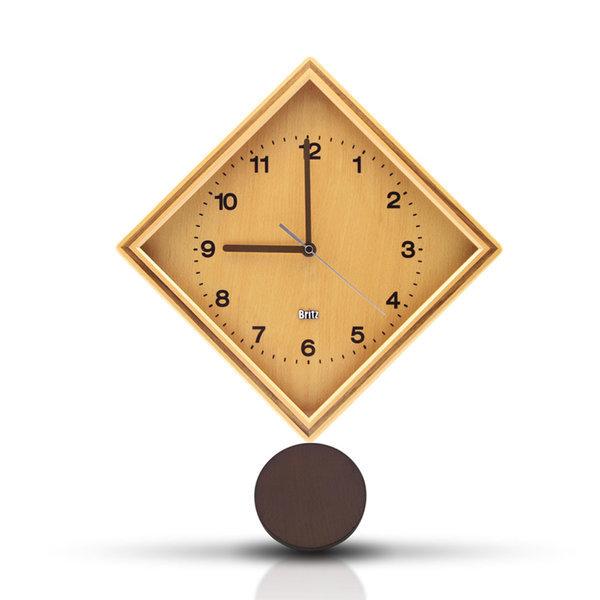 원목 벽시계 BZ-C17P 친환경 무소음 시계 집들이선물 상품이미지
