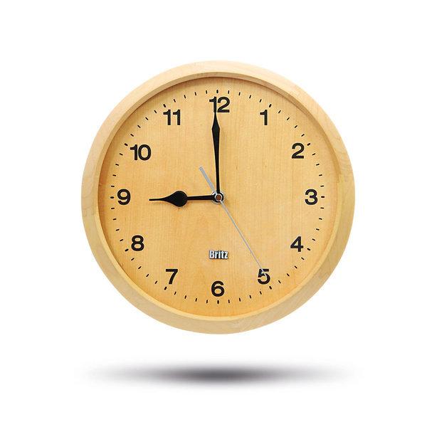 원목 벽시계 BZ-C17W 친환경 무소음 시계 집들이선물 상품이미지