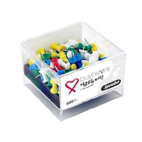 점보칼라슈파핀 칼라장구핀 메모판핀 장구압정 상품이미지