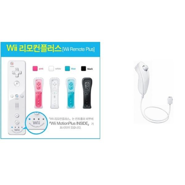 닌텐도 Wii 리모컨모션플러스 + 눈차크 정품 중고제품 상품이미지