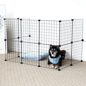 한칸뚝딱 강아지 울타리 철장 FHALW0014 블랙 14P