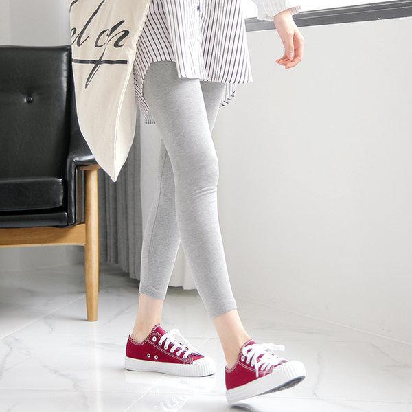 여성 빅사이즈레깅스 면스판 코튼 8부 여자쫄바지 발목 상품이미지