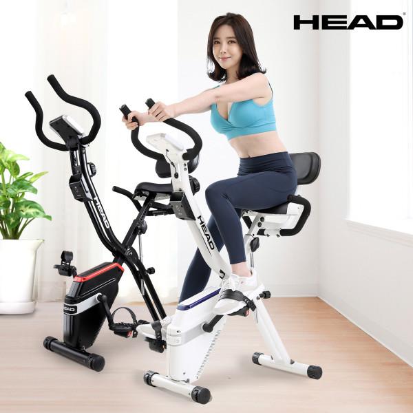 펜턴급 헤드바이크 접이식 실내자전거 헬스자전거 흰색 상품이미지