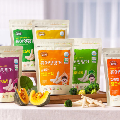 Organic Rice Snack Pure-Eat Baby Snack Laver Barley Tea 10+2