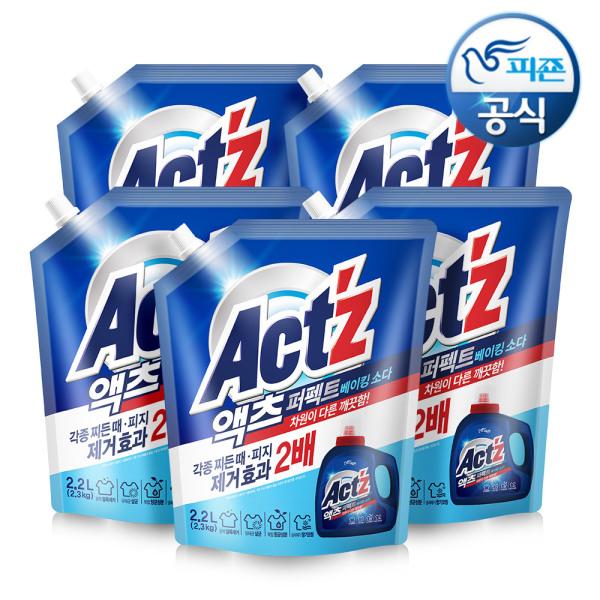 액체세제 액츠퍼펙트 2.2L 베이킹소다 x 6개 상품이미지