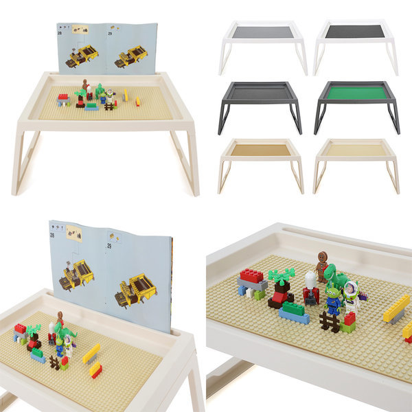 좌식형 레고책상 레고판포함 레고놀이판 접이식테이블 상품이미지