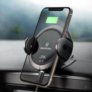 [신지모루]오그랩 차량용 무선충전 자동 휴대폰/스마트폰 거치대