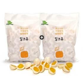 1+1 하오리위안 밀크츄 대용량 1kg x 2봉 카라멜