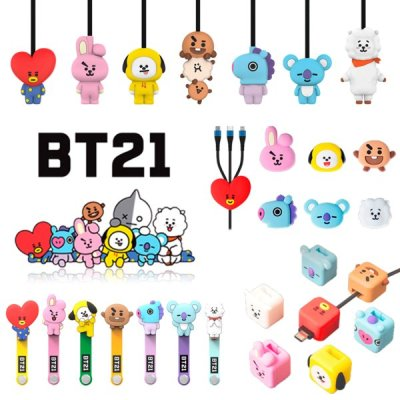 BT21 smart ring GRIP TOK charging character cable goods