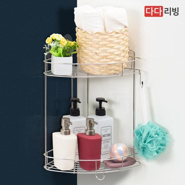 타이탄 매직후크 코너 선반 2단 /욕실 샴푸 렉 다용도 상품이미지