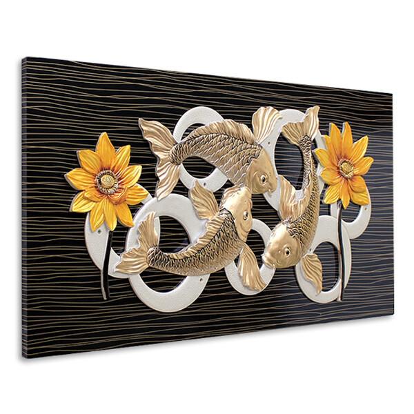 인테리어 부조 장식 벽걸이 그림 액자 황금잉어(대) 상품이미지