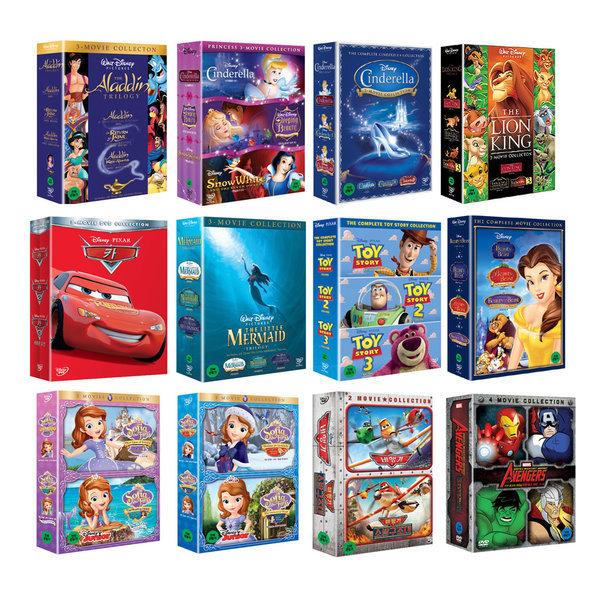 월트디즈니 박스세트 15종 DVD 선택구매: 라이온킹 소피아 신데렐라 알라딘 인어공주 토이스토리 카 상품이미지