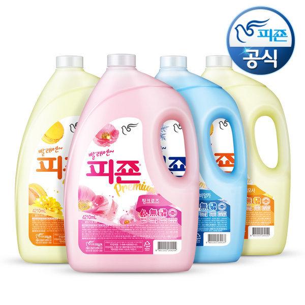 섬유유연제 피죤 4210ml 4개 핑크로즈 상품이미지