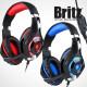 브리츠 K35GH 게이밍 헤드셋 마이크 헤드폰 LED 레드 상품이미지