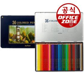 문화 넥스프로 36색 색연필 고급 틴케이스 전문가용