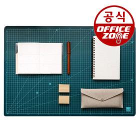 녹색 데스크매트 미디엄 500x380 컷팅매트 커팅매트