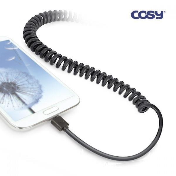 코일형 마이크로5핀 블랙1.2M케이블 스마트폰핸드폰 상품이미지
