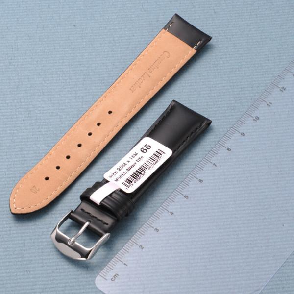 에펠티토 AT65 송아지가죽 시계줄 (20mm/블랙) 상품이미지